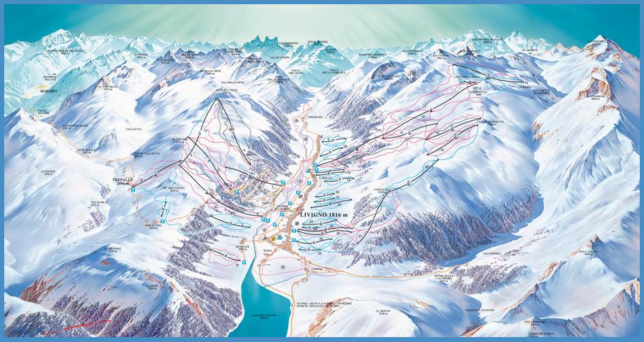 Livigno Italy Map.Ski Livigno Area Ski Italy Information Italy Ski Resort